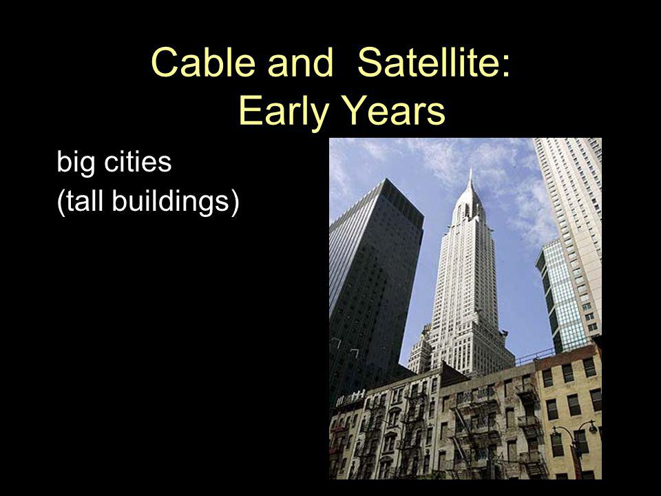 Cable and Satellite: Early Years