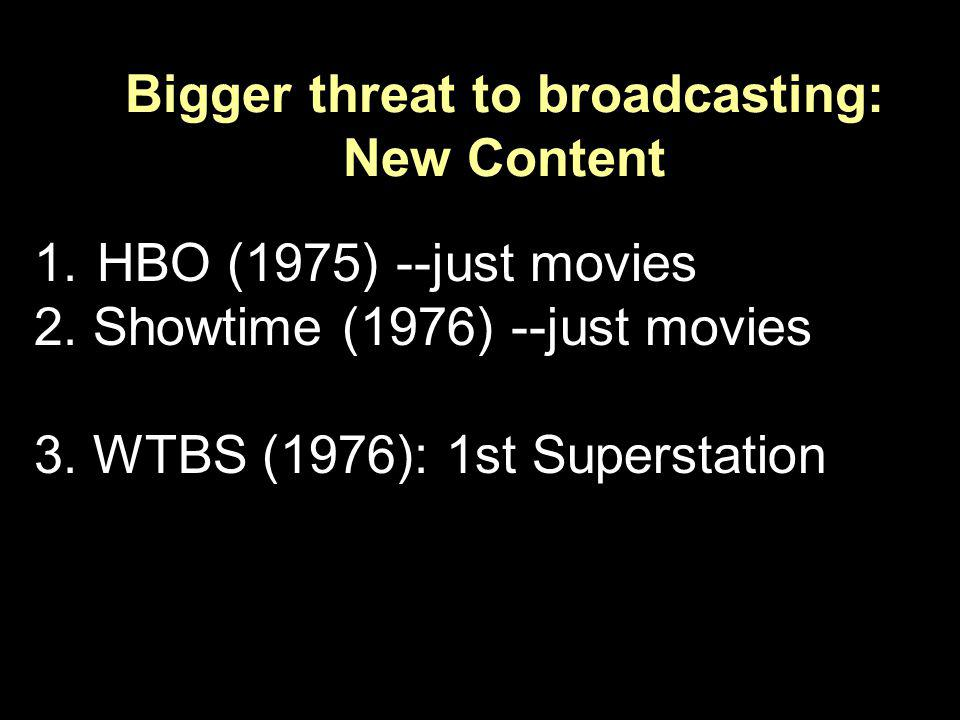 Bigger threat to broadcasting: New Content