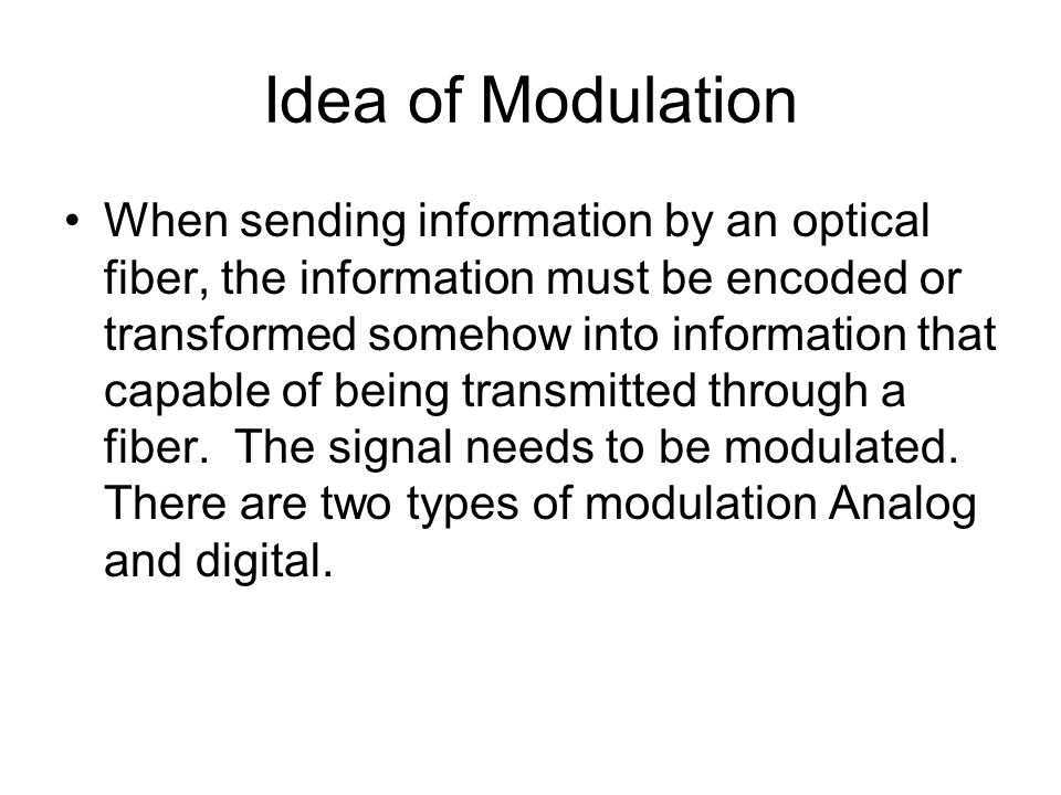 Idea of Modulation