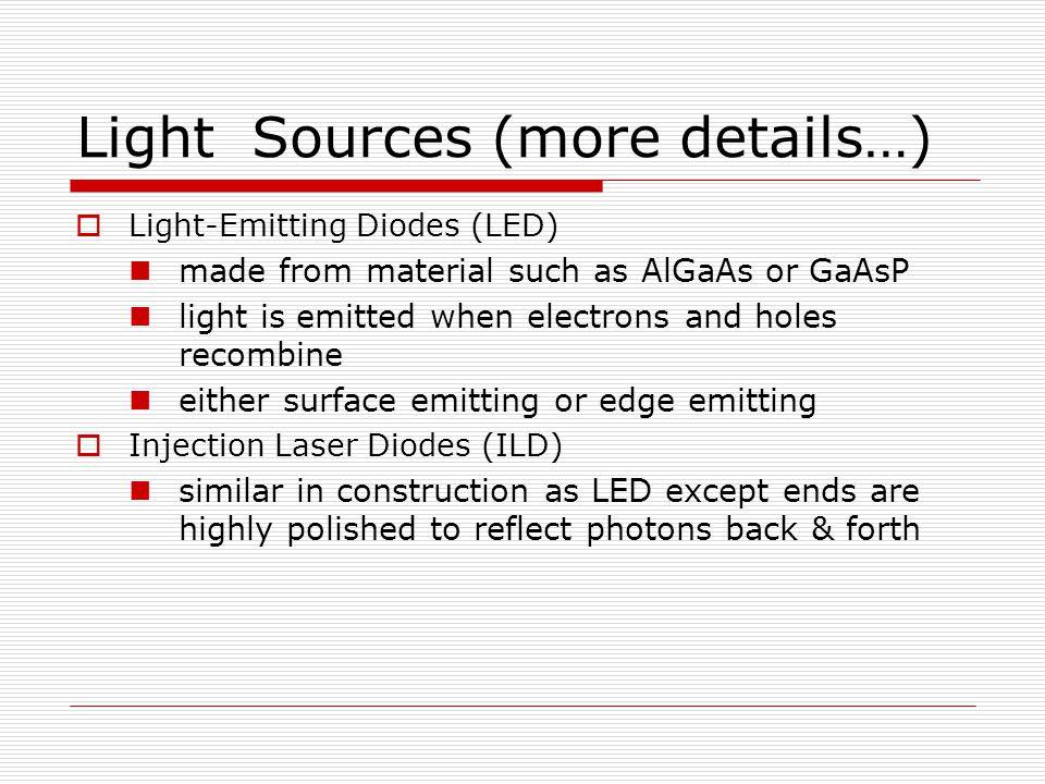 Light Sources (more details…)
