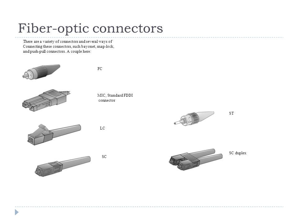 Fiber-optic connectors