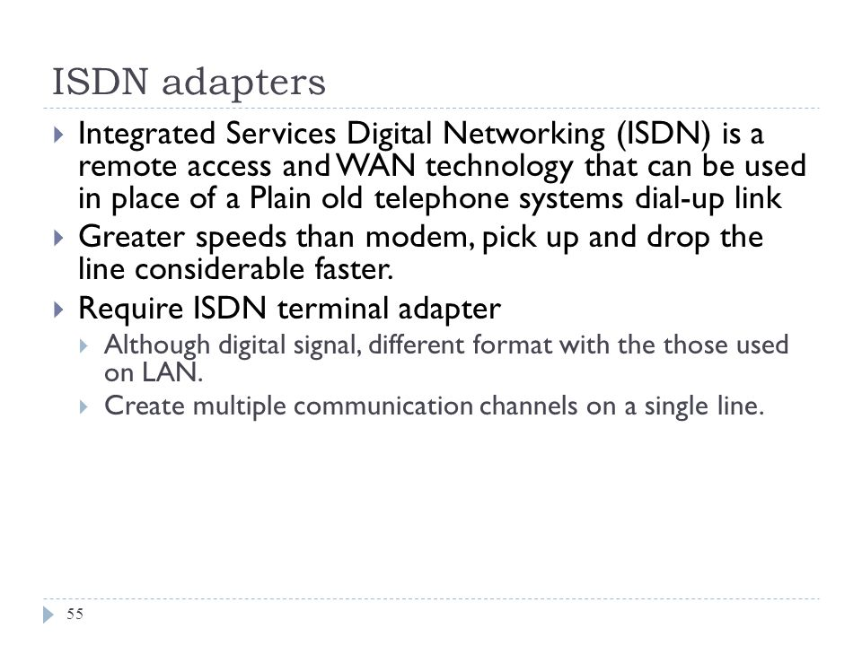 ISDN adapters