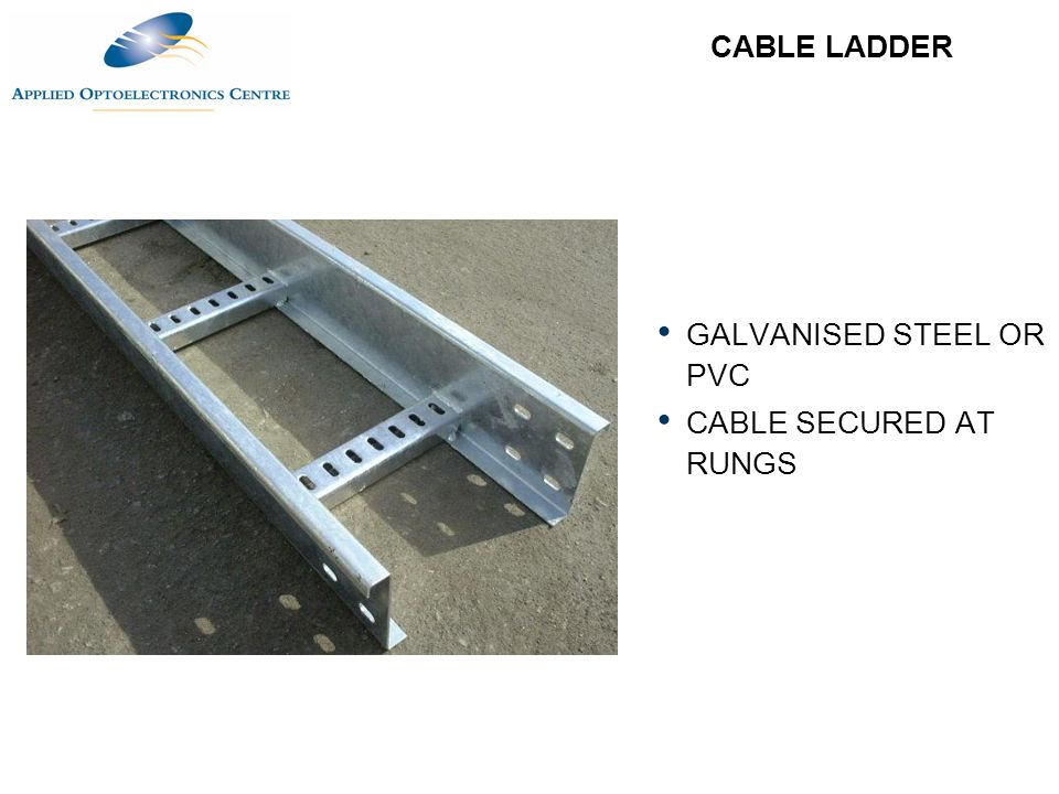 Pvc Ladder Rungs : Cable management ppt download