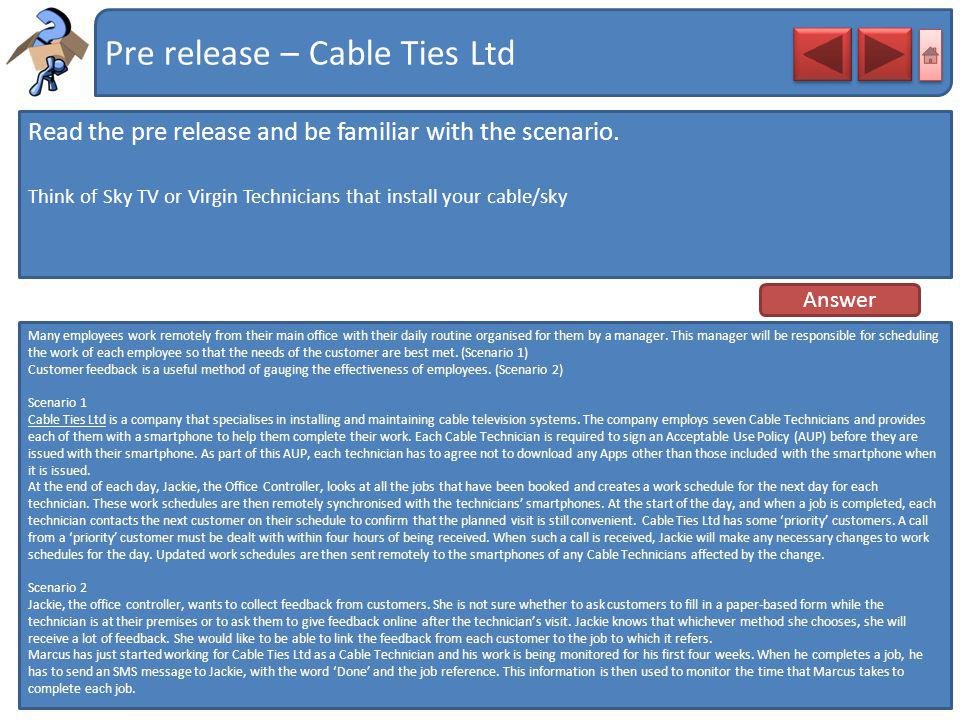 Pre release – Cable Ties Ltd