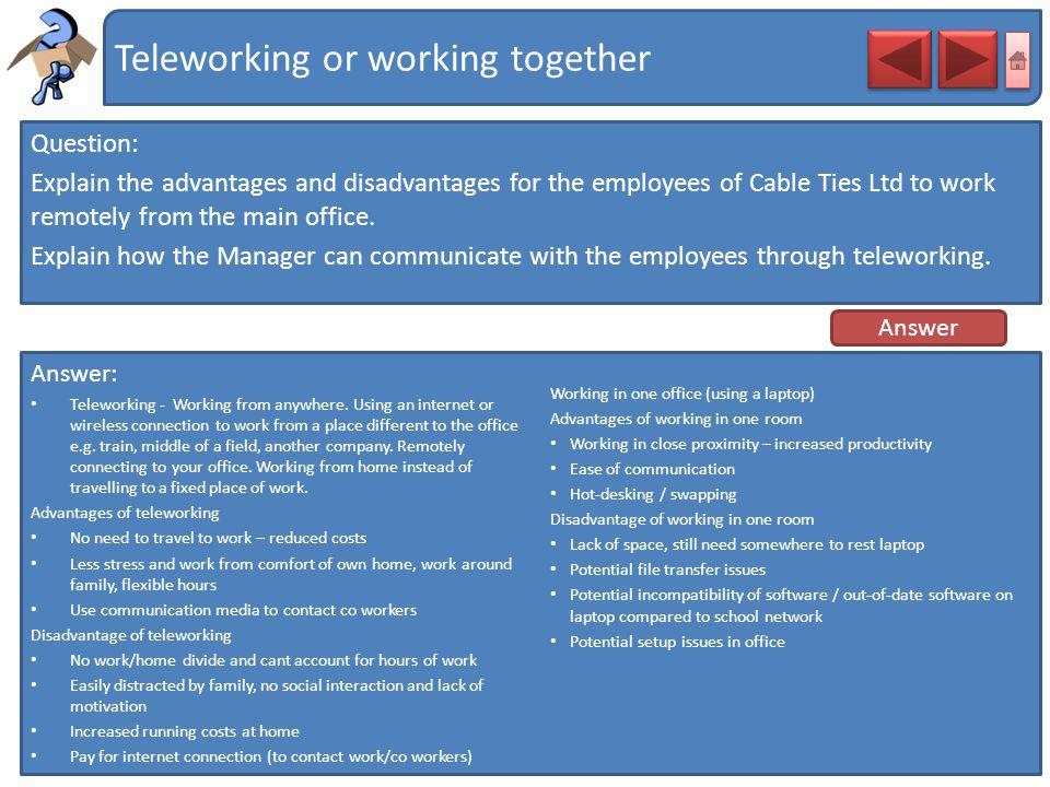 Teleworking or working together