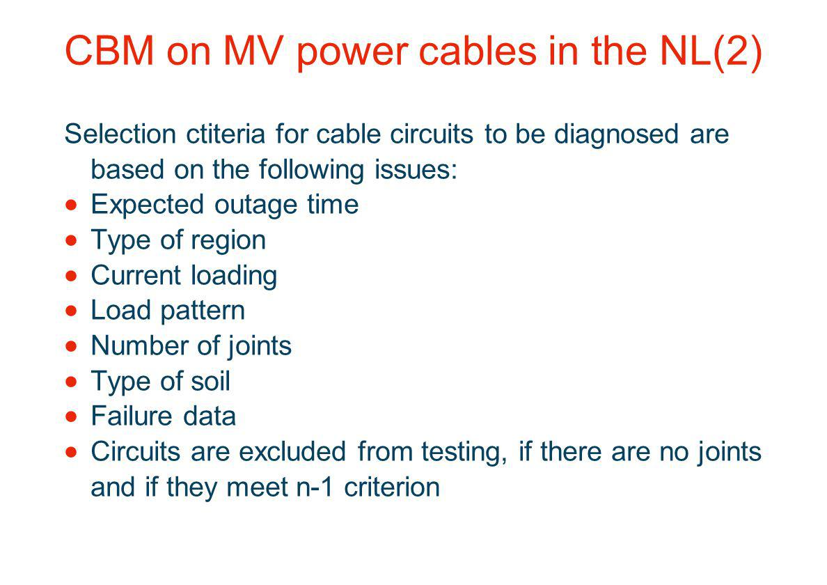 CBM on MV power cables in the NL(2)
