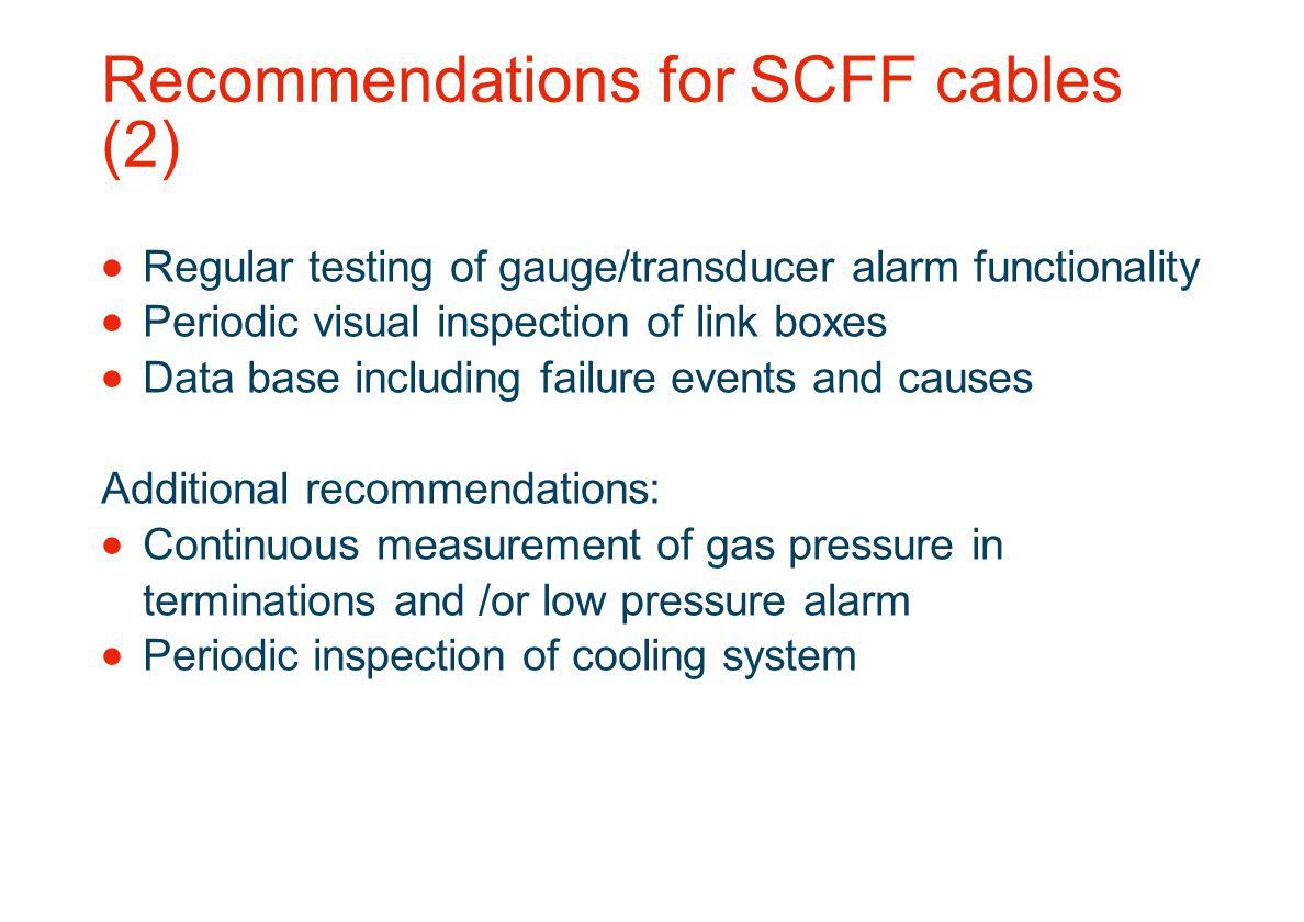 Recommendations for SCFF cables (2)