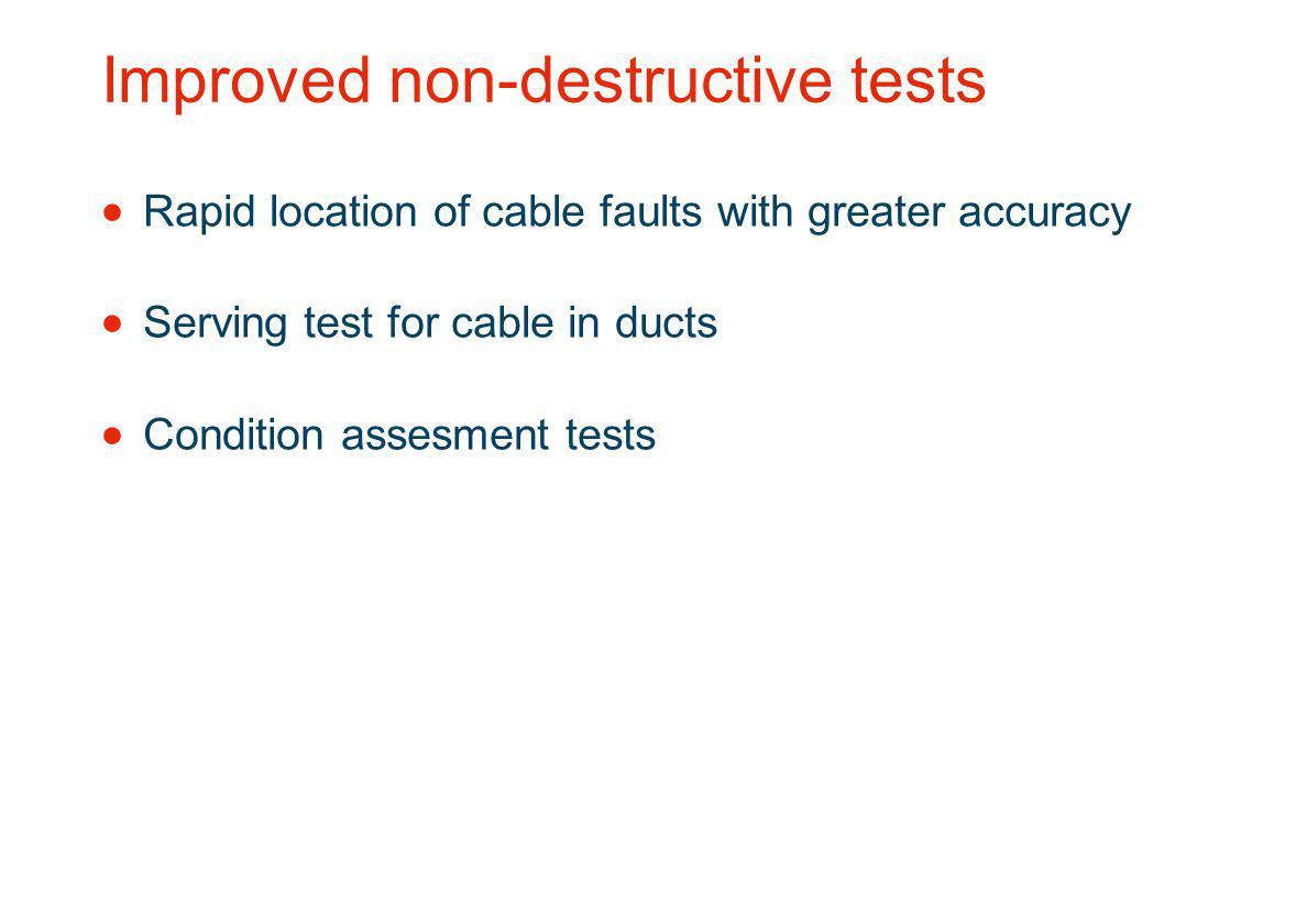 Improved non-destructive tests