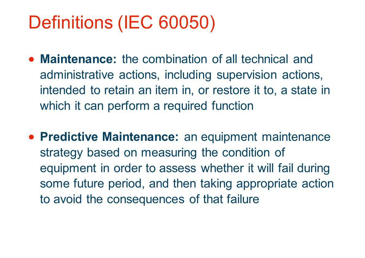 Definitions (IEC 60050)