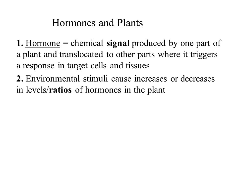 Hormones and Plants