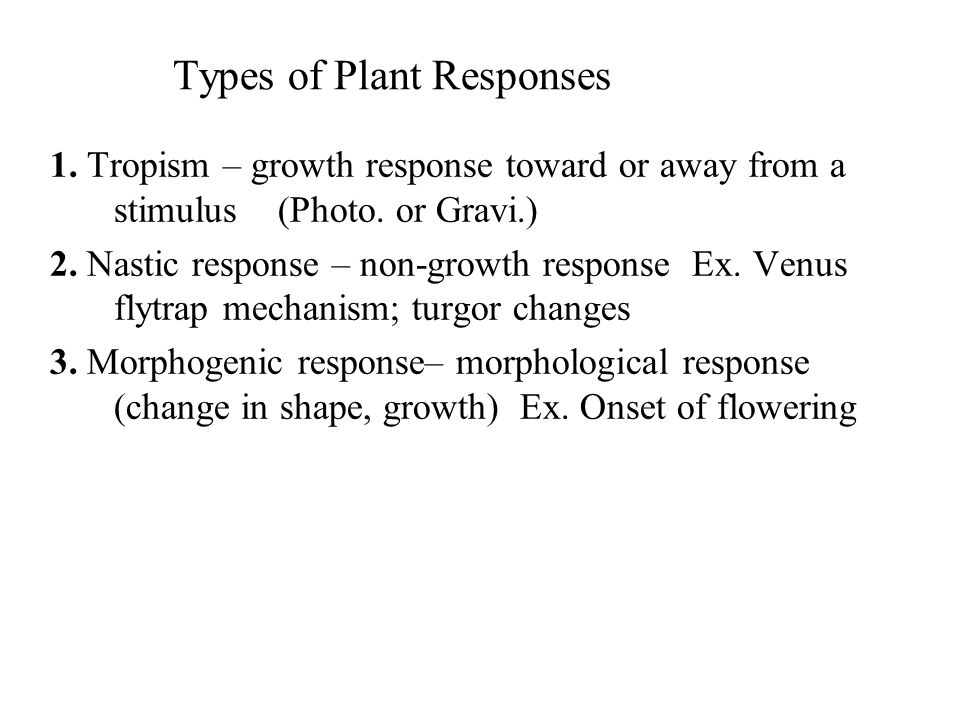 Types of Plant Responses