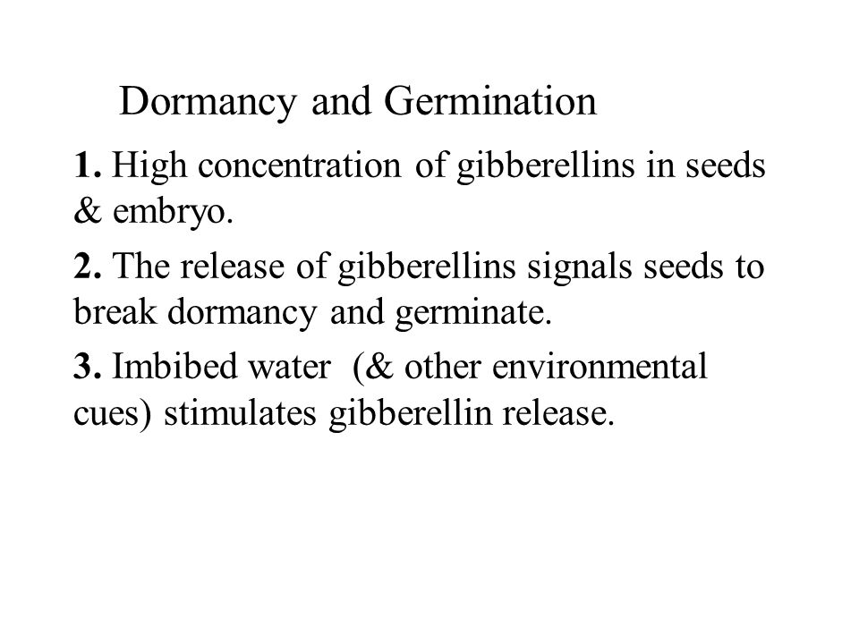 Dormancy and Germination
