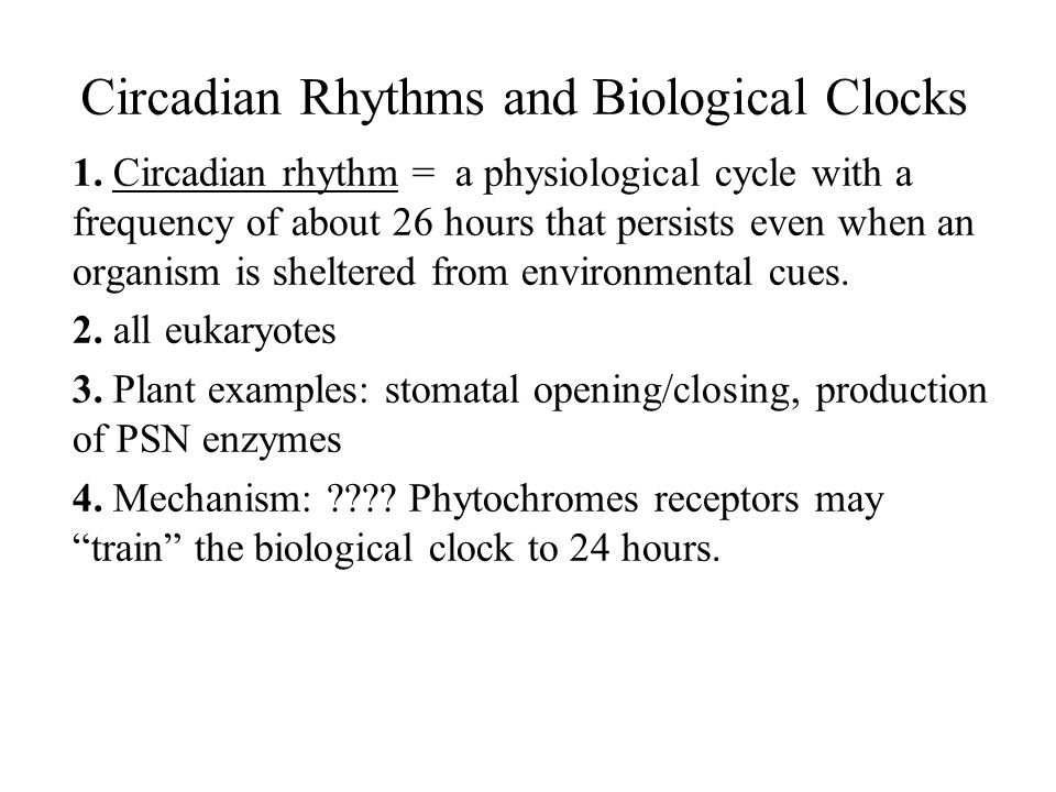 Circadian Rhythms and Biological Clocks