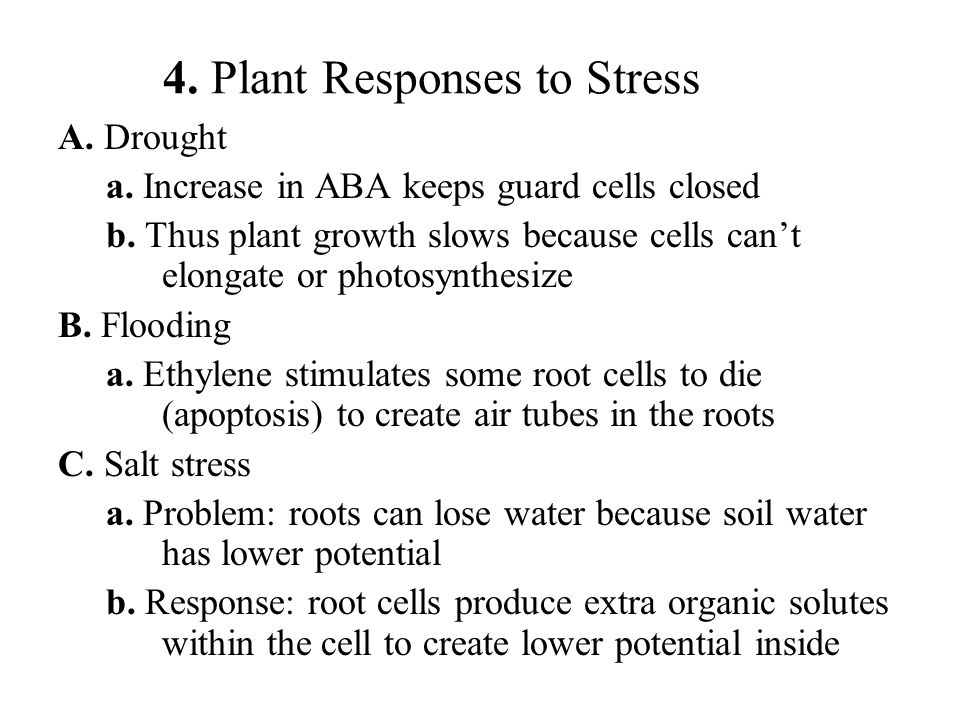 4. Plant Responses to Stress