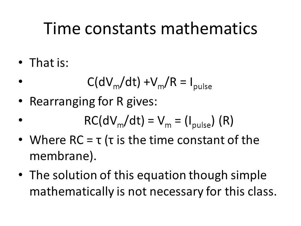 Time constants mathematics