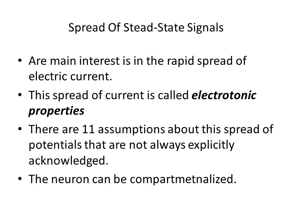 Spread Of Stead-State Signals