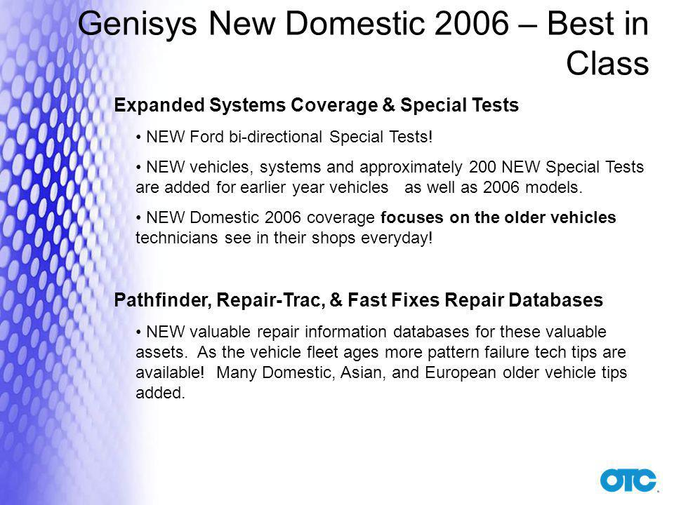Genisys New Domestic 2006 – Best in Class