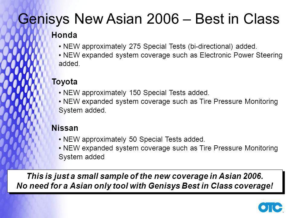 Genisys New Asian 2006 – Best in Class