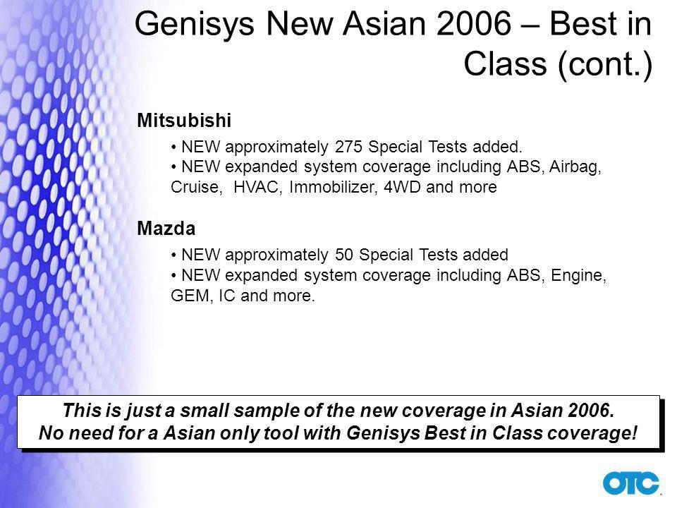 Genisys New Asian 2006 – Best in Class (cont.)