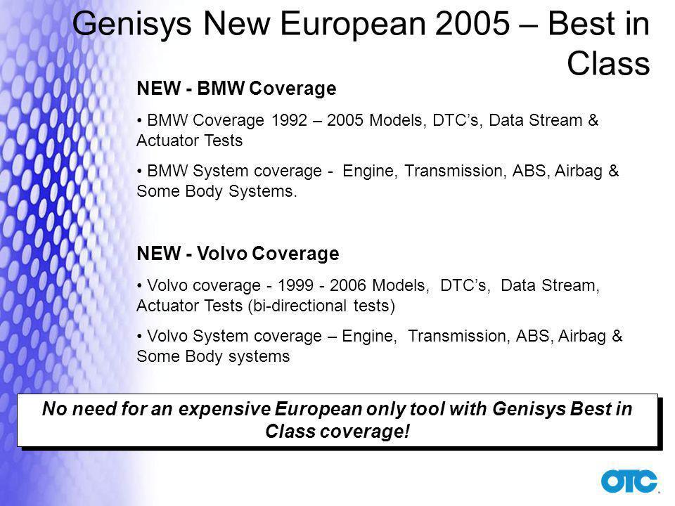 Genisys New European 2005 – Best in Class