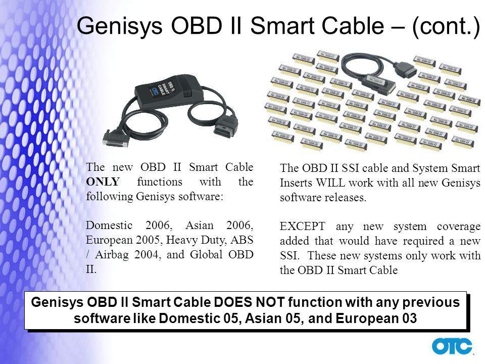 Genisys OBD II Smart Cable – (cont.)
