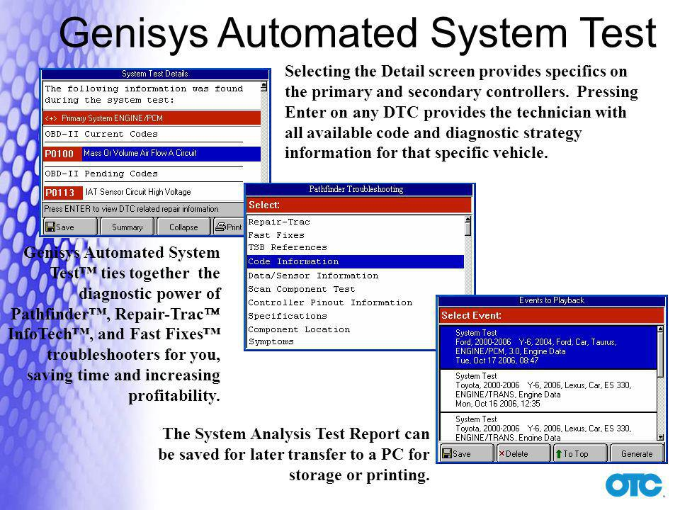 Genisys Automated System Test