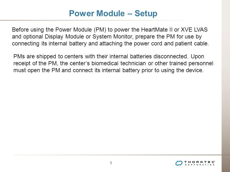 Power Module – Setup