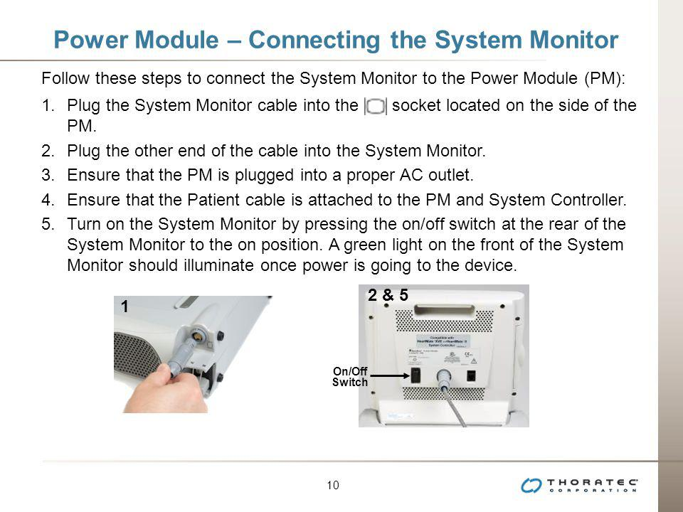 Power Module – Connecting the System Monitor