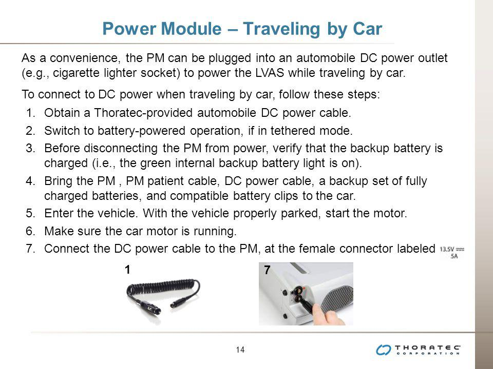 Power Module – Traveling by Car