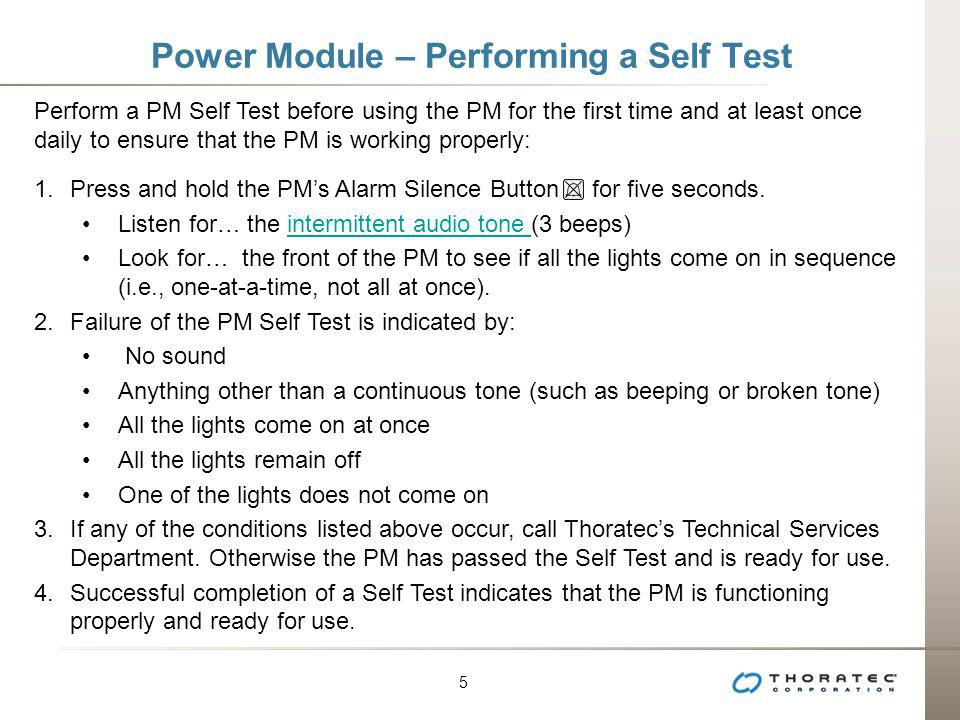 Power Module – Performing a Self Test