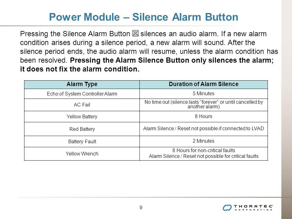 Power Module – Silence Alarm Button