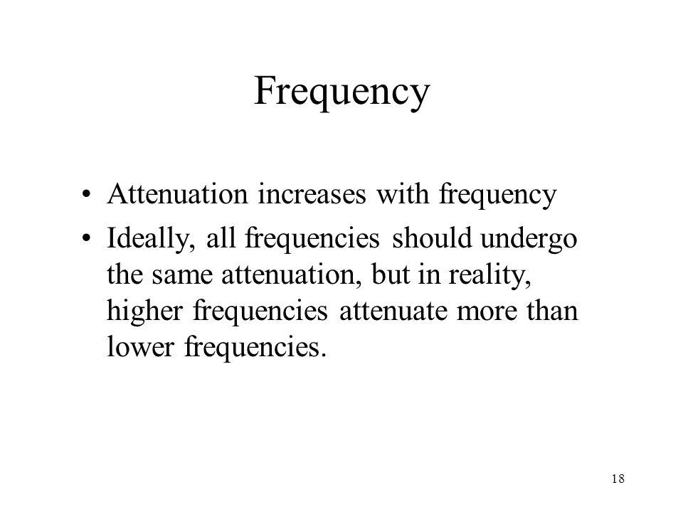 Frequency Attenuation increases with frequency