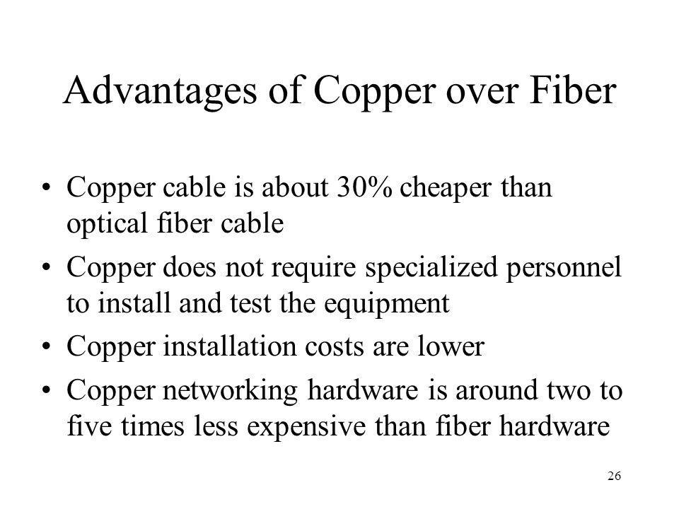 Advantages of Copper over Fiber
