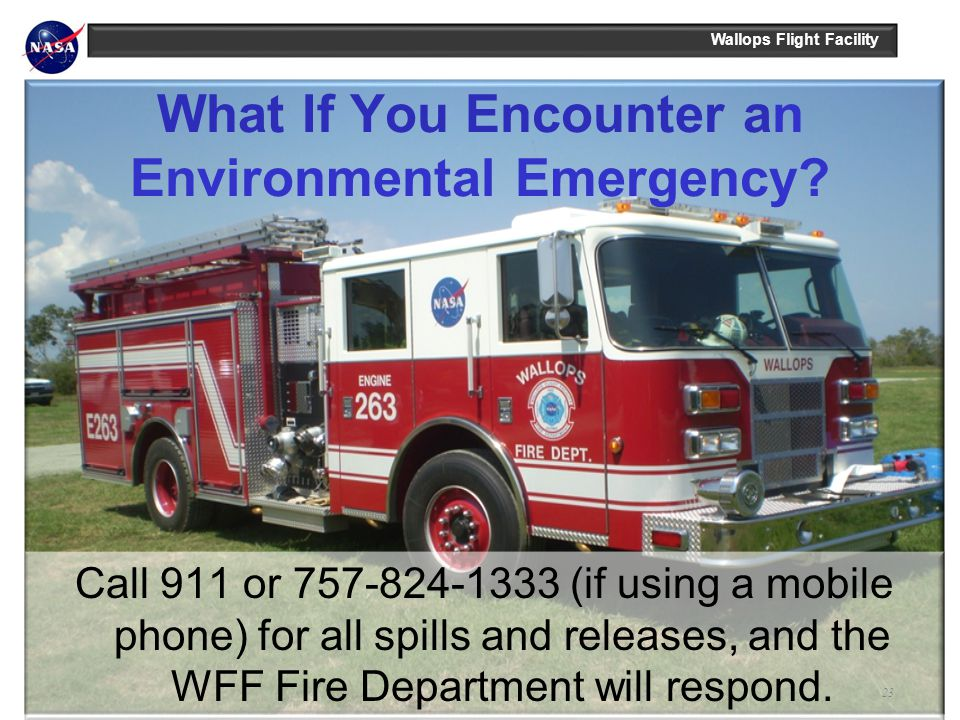 What If You Encounter an Environmental Emergency