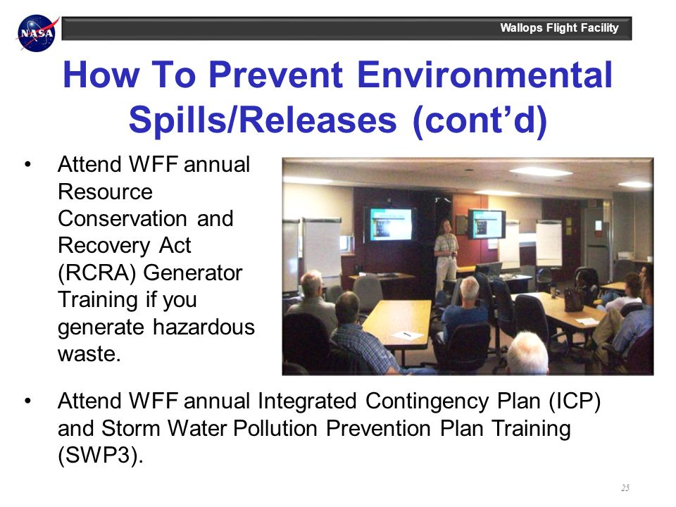 How To Prevent Environmental Spills/Releases (cont'd)