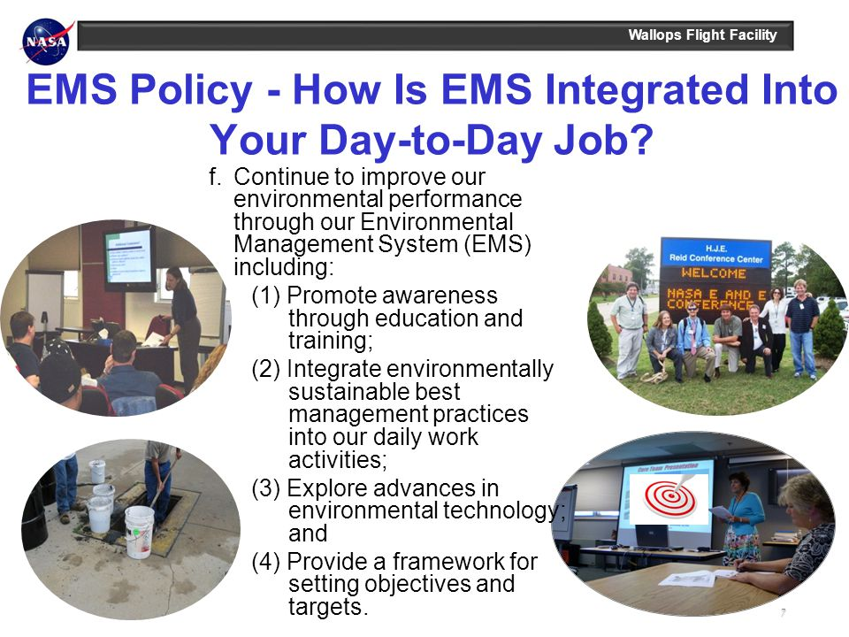 EMS Policy - How Is EMS Integrated Into Your Day-to-Day Job