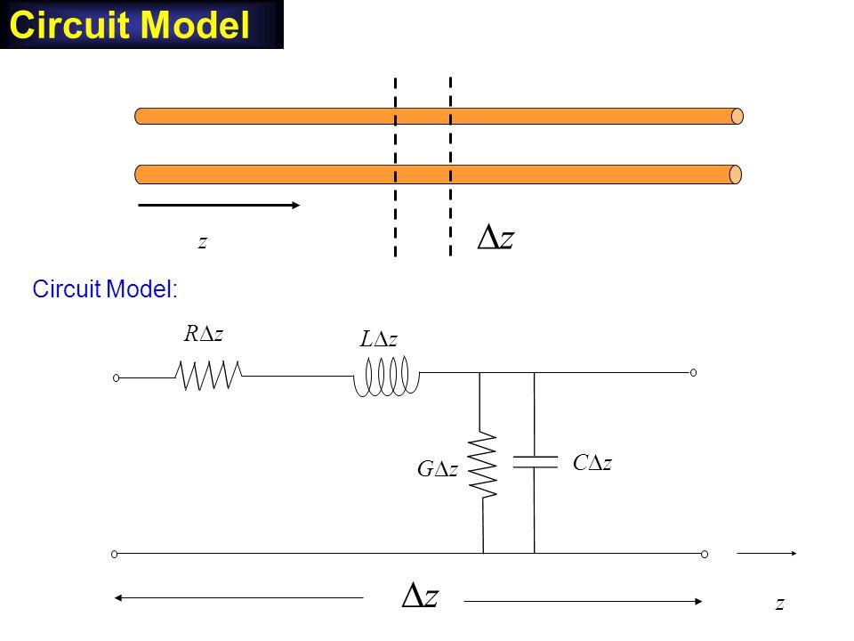 Circuit Model z Dz Circuit Model: RDz LDz GDz CDz Dz z
