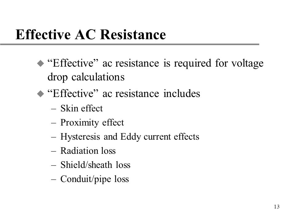 Effective AC Resistance