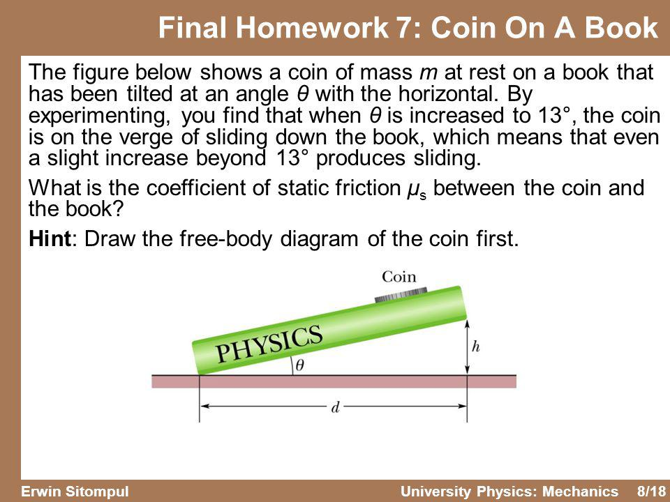 Final Homework 7: Coin On A Book