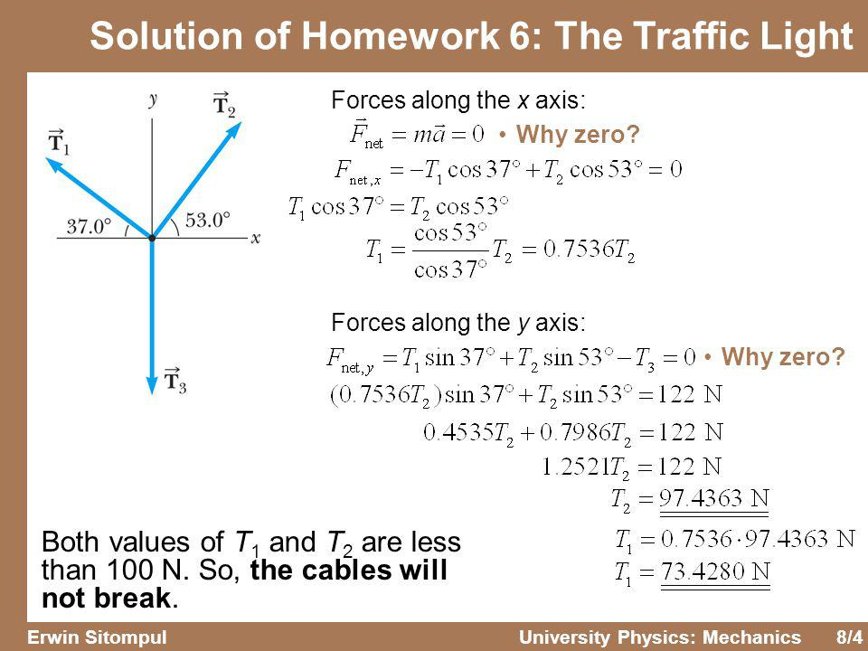 Solution of Homework 6: The Traffic Light