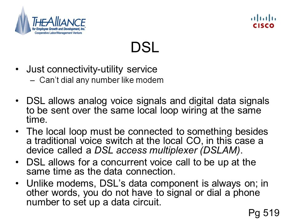 DSL Just connectivity-utility service