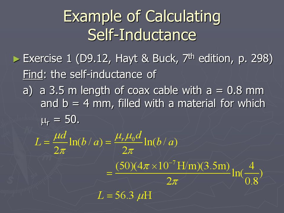 Example of Calculating Self-Inductance