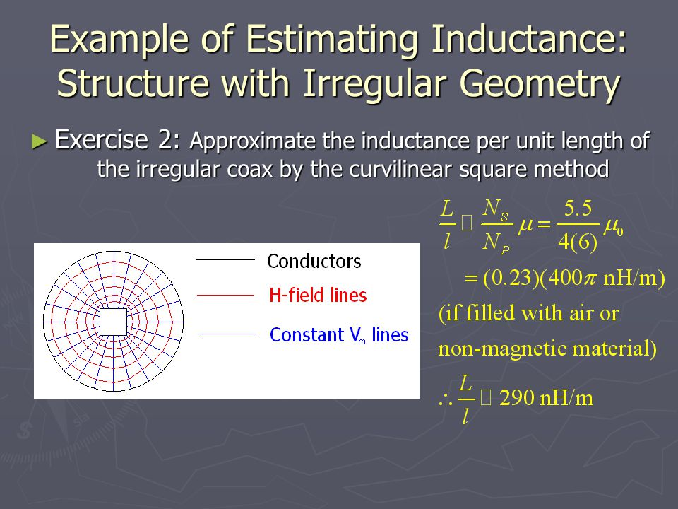 Example of Estimating Inductance: Structure with Irregular Geometry