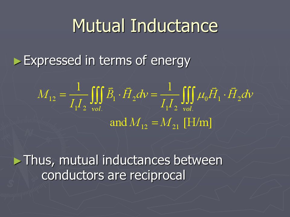Mutual Inductance Expressed in terms of energy