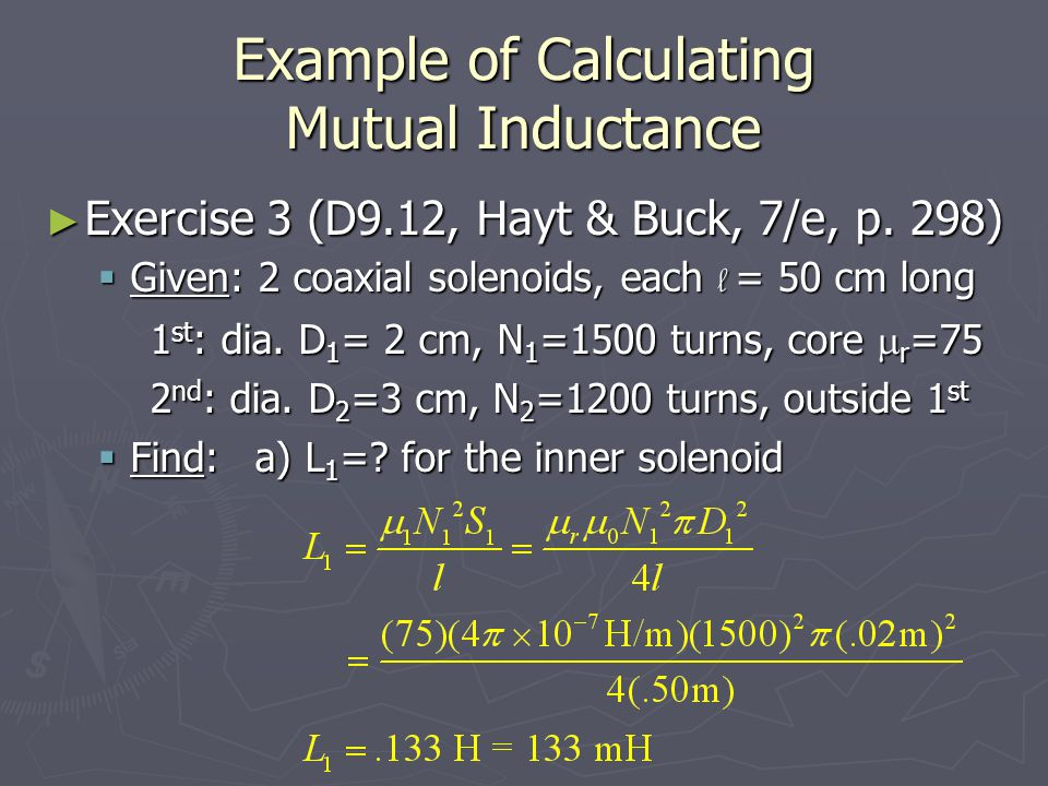 Example of Calculating Mutual Inductance