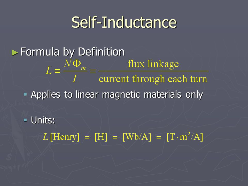 Self-Inductance Formula by Definition