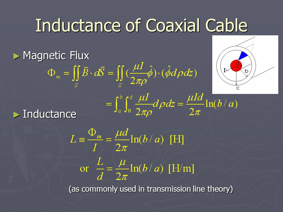 Inductance of Coaxial Cable