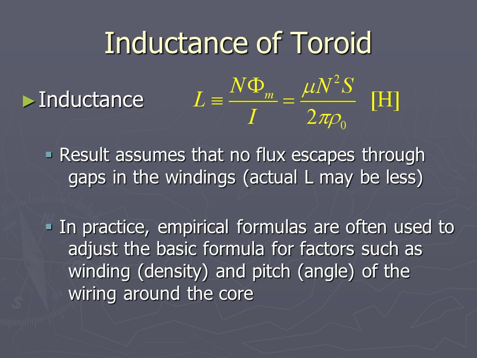 Inductance of Toroid Inductance