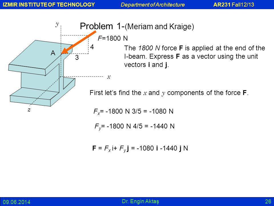 Problem 1-(Meriam and Kraige)