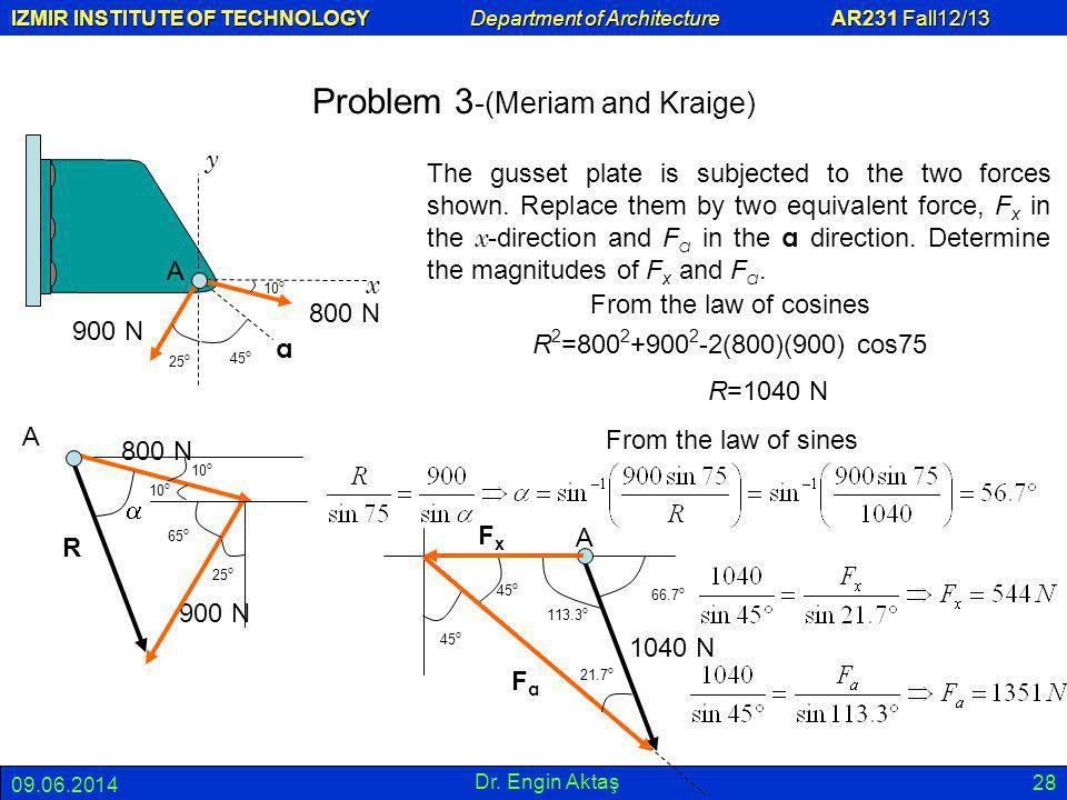 Problem 3-(Meriam and Kraige)